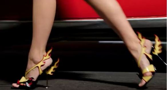 Flame high heels 50s fashion Prada 2012