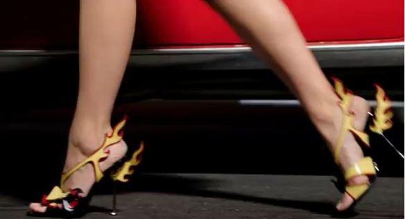 Flame high heels 50s fashion Prada 2012