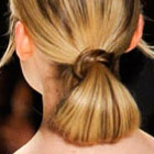 2012 hairstyle trends - looped ponytail