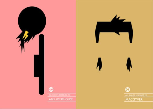 Amy Winehouse MacGyver haircut Patricia Povoa minimal design poster