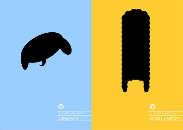 superman-marge-simpson-haircut-minimal-design-poster