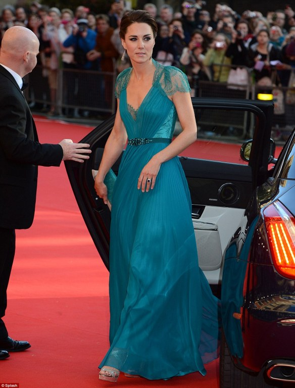 Kate Dress Olympic gala - Jenny Packham bespoke bridal gown