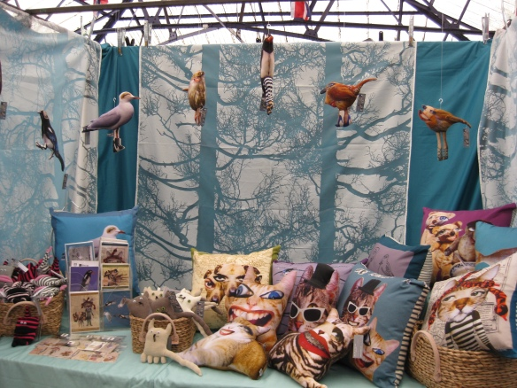 Sam Morris - Wonderfully Weird Quirky Cushions and Toys - stall