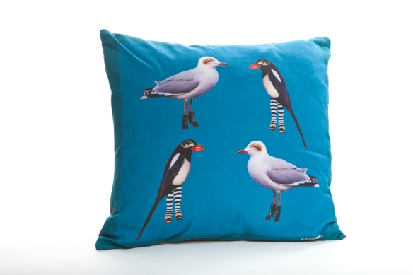 turqoise cushion - Sam Morris - Wonderfully Weird Quirky Cushion